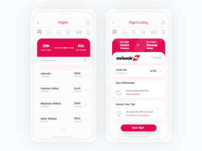 Travel + Booking App