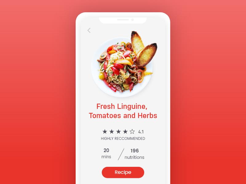 Recipe App Concept recipe concept food concept food ui recipe ui food app recipe app