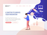 The Dreamer Digest - Landing Page colorful landing page kindle e reading online reader illustration uix logo landing page typography branding ui design clean ui