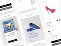 E commerce - mobile version