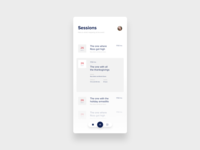 Sessions screen for event app