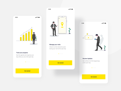 Onboarding for career event career education app university education event illustration welcome onboarding design splash screen clean ios minimal android ux ui cards application app