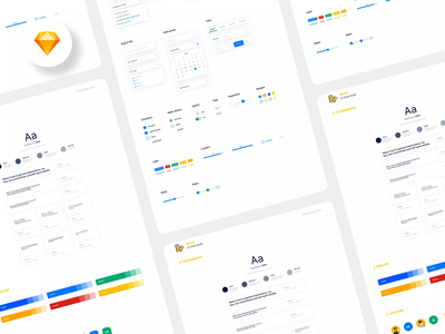 Bricks UI Style Guide android ios ux clean simple minimal template resource sketch kit design system styleguide design ui