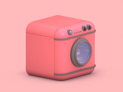 Bosch toyz washer 3d cinema4d render pink realistic c4d motion machines toys