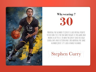 Stephen Curry typography banner steph curry redcolor typo poster fanmade