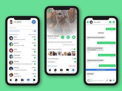 WhatsApp Redesign uidesign uxdesign ux ui redesign design