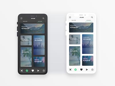 XPLORE - A Trip planning app. uiux minimal app ui design ui uxdesign ux uidesign design redesign