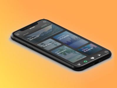 XPLORE App in iPhone XR. minimal ui ux app ui design uidesign uxdesign design