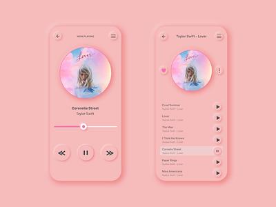 Neumorphism Music Player uidesigner uxdesiger uiux appdesign redesign branding minimal illustration ui ux uidesign design uxdesign