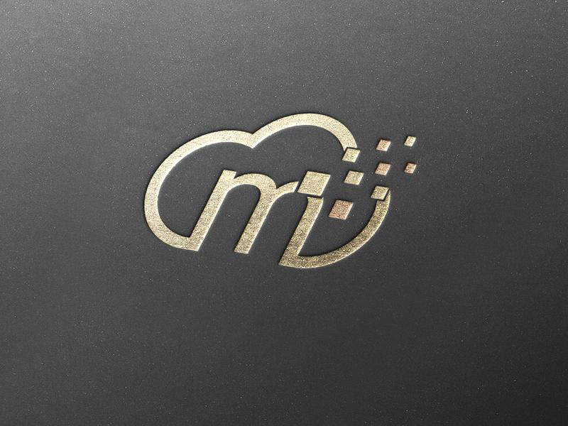 mCloud logo cloud logo digital logo cloud logo