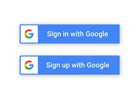 Google Sign In/Sign Up Button