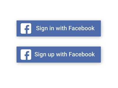 Facebook Sign in/  Sign up Button sign out sign in button facebook