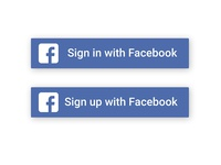 Facebook Sign in/  Sign up Button