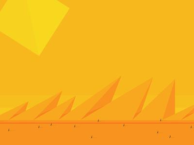 El Tramo Largo desert sun simple illustrator minimal orange afternoon