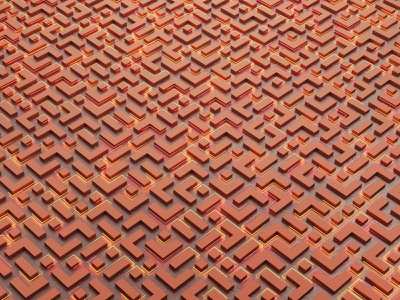 Niolce grid texture maze 3d modo bricks brick digital pattern abstract