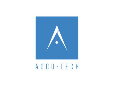Accu•Tech accutech logo minimal tech precision