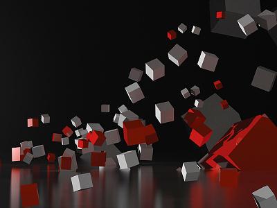 TEDxUofM tedx tedxuofm modo cubes 3d reflection uofm um render