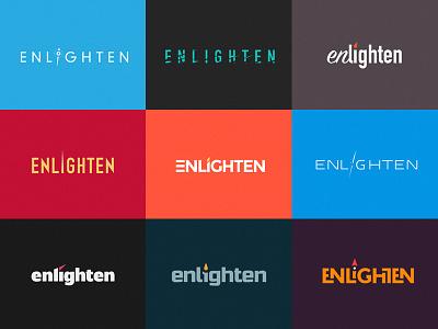 Logo Explorations type treatment type enlighten logos logo