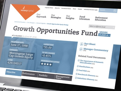 Fund Page website portfolio capital advisor fund