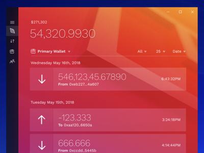 Akroma Desktop Wallet figma app transaction wallet cryptocurrency crypto application windows uwp desktop akroma