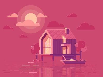 House Illustration illustration graphics design see landscape house