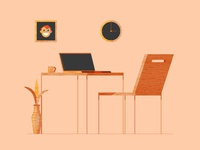 Wooden Workspace (Wood work)