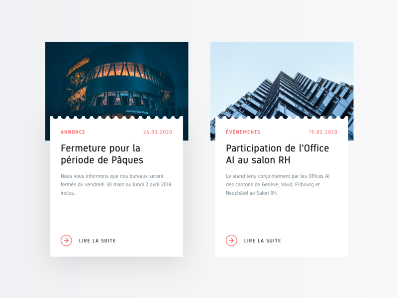 UI Concept – Article Card Exploration cards ticket design architecture administration event news light hover state editorial clean card article card article ui exploration webdesign modern