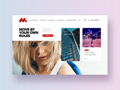 Fiber #1 – Hero section light moves movement dance technology sport fashion textile landing pages header slider card landing page exploration hero webdesign modern ui