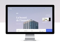 Real Estate Website #1 – First screen