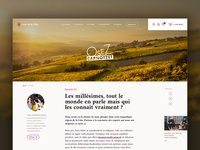 Wine distributor #5 – Article page