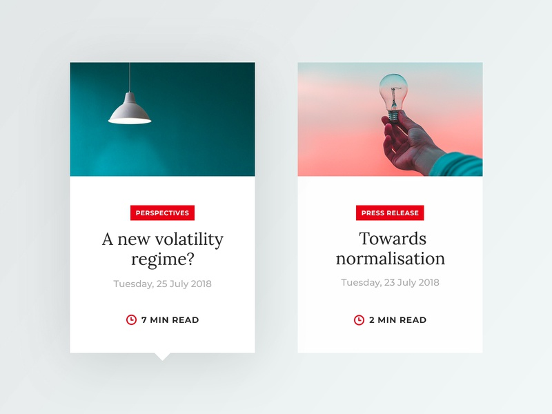Unigestion #1 – Article Card Exploration light minimal clean hover state editorial design editorial article news article card card minimalism webdesign modern ui