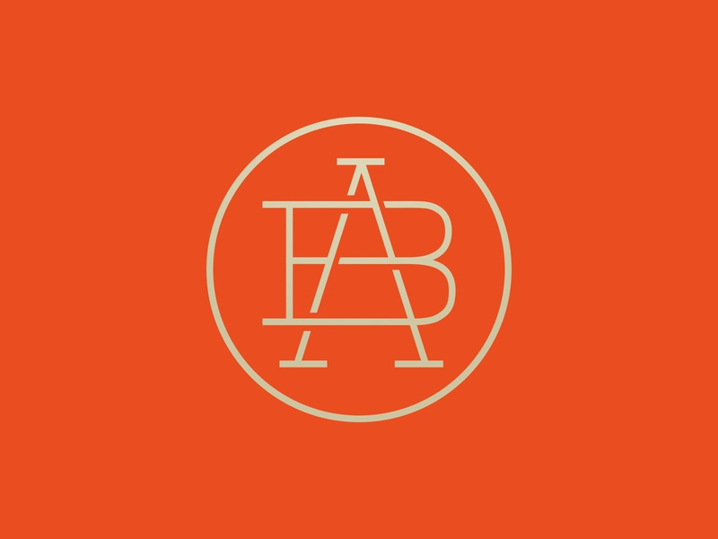 AB #1 – Colors exploration monogram logo monogram minimal ab typography vector design identity minimalism logo branding