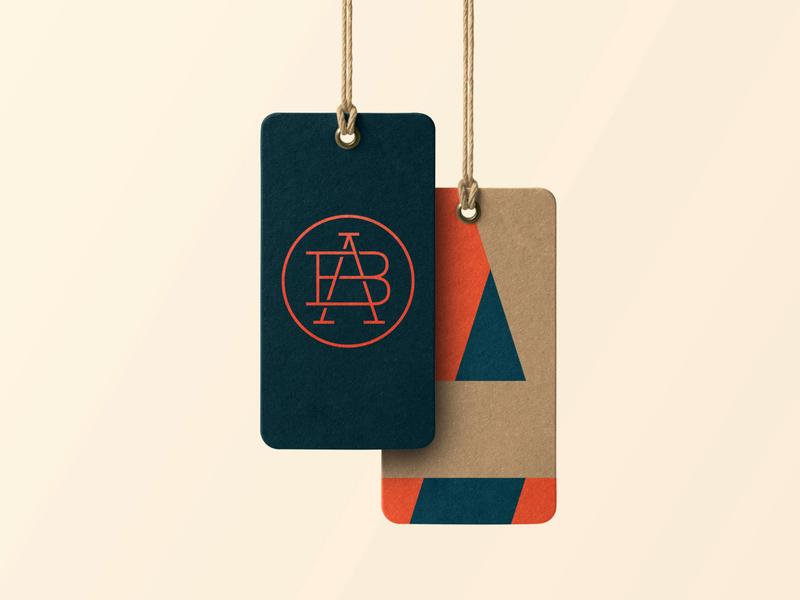 AB #3 – Brand Exploration card logo vector logotype modern monogram identity design minimalism branding ab logo ab brand tag logo exploration