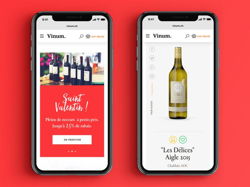 Vinum #2 – Mobile preview eshop ecommerce mobile ui color bottle wine vine exploration design search landing page mobile webdesign ui