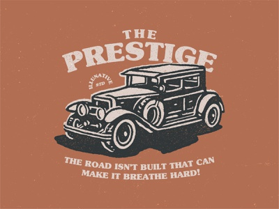 The Prestige shirley cigars classic car automotive car retro old car the prestige illunative mark art vintage animal ikhwan noor hakim buy branding identity buy logo logo for sale illustration logo