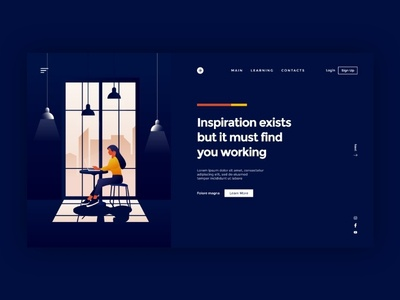 Landing Page for Creative Worker Concept