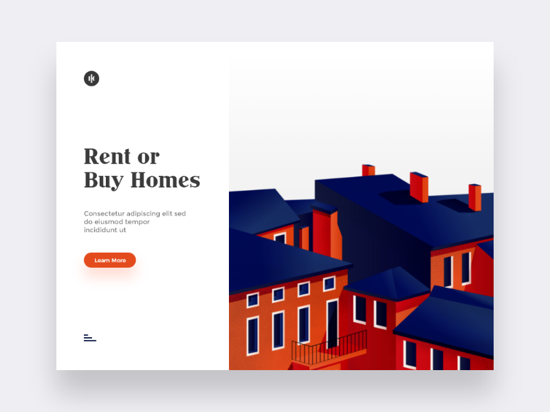 Rent or Buy Homes web design landing page real estate property homes buy rent ikhwan noor hakim art illustration sketch adobexd user experience user interface uiux ux ui