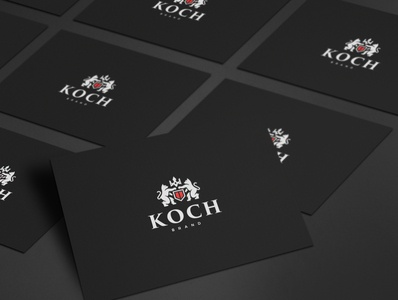 Heraldry Cat Logo on Business Card