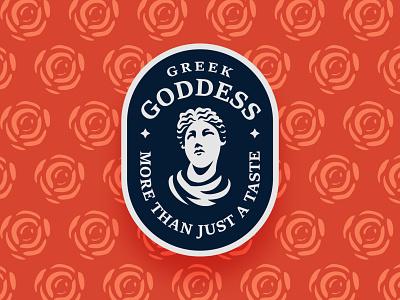 Greek Goddess branding identity feminine rose badge retro vintage mystic aesthetic woman greece greek goddess buy buy logo logo logo for sale