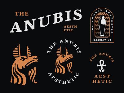 The Anubis Aesthetic Logo badge retro vintage fashion cosmetic beauty aesthetic egyptian kingdom ra anubis egypt goddess god illunative logo illustration buy logo branding identity logo for sale