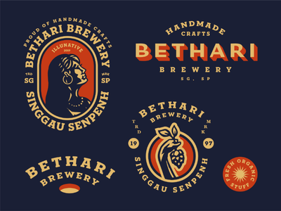 Bethari Brewery girl woman logodesign retro classic vintage fresh brewery buylogo logo