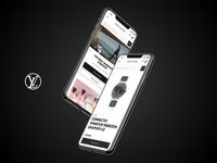 Louis Vuitton Revamp website design web design mobile desktop web design ui
