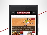 DirectMatin Windows Phone App