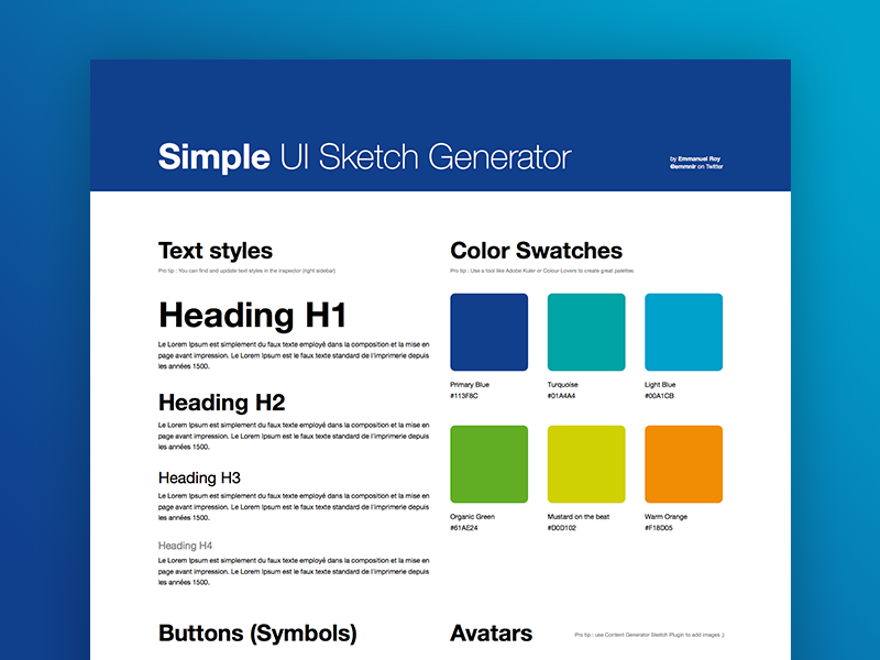 Simple UI Sketch Generator generator sketch identity kit ui