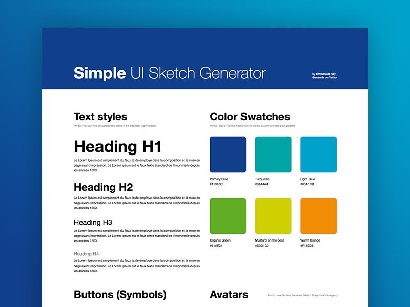 Simple UI Sketch Generator generator sketch identity kit ui