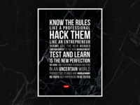 Hack40 Values Poster