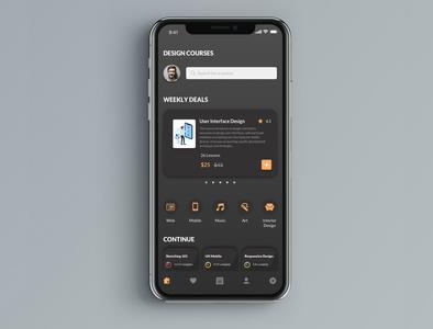 Online design courses app