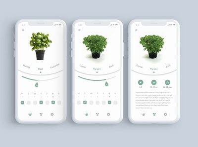 Plant water levels monitoring app