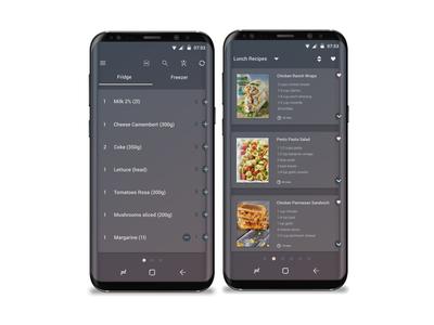 Fridge and recipe app