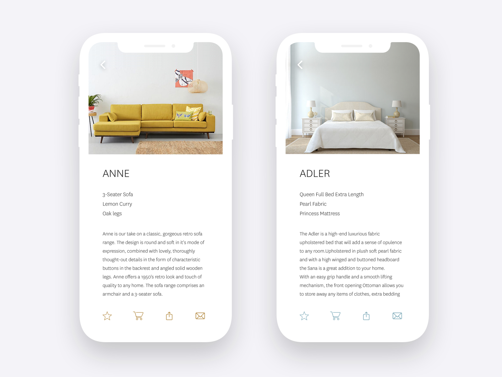 Admirable Furniture App By Genevieve Chang On Dribbble Andrewgaddart Wooden Chair Designs For Living Room Andrewgaddartcom